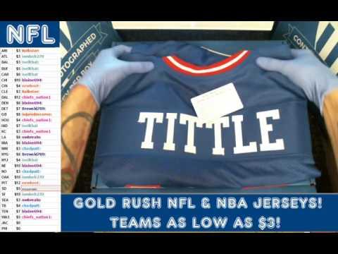 Gold Rush 2016 Autograph Football Jersey Box 3 Case 38 YA Tittle