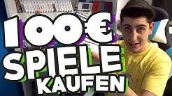 100€ - Wie viele gebrauchte COOLE Spiele kann man kaufen?