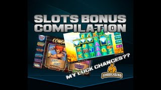 Slots Bonus Compilation With Jimbo + Draws!