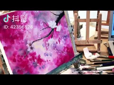 Painting stage 油畫教學-櫻花🌸