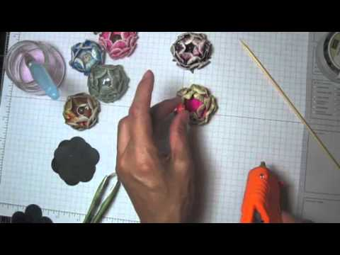 DIY:Easy to make Color paper flower technique by SaCrafters