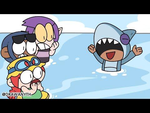 Brawl Stars Animation   Shark Leon   Leon & Mortis & Brock & Jessie