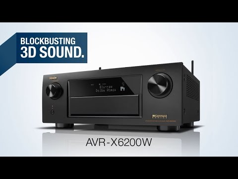 The AVR-X6200W Network AV Receiver - Blockbusting 3D Sound