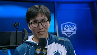Doublelift, What do you want to say to Bjergsen?
