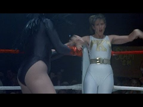 "Wrestling bit from ""Stay Tuned"" - Pam Dawber Vs Faith Minton"