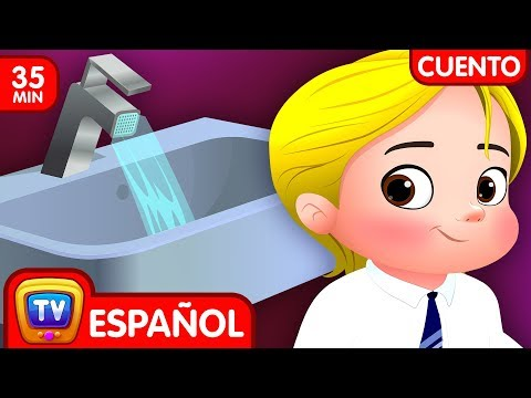 cuentos-infantiles-para-dormir-en-español---cussly-aprende-a-ahorrar-agua-(colección)-chuchu-tv