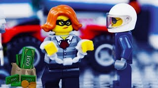 LEGO City House Robbery STOP MOTION Cops And Robbers: Catch The Crooks | LEGO City | By LEGO Worlds