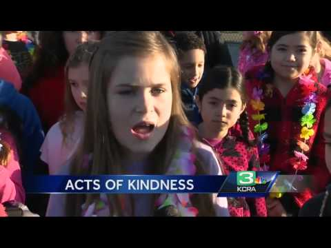Roseville elementary school students learn how to spread kindness overseas