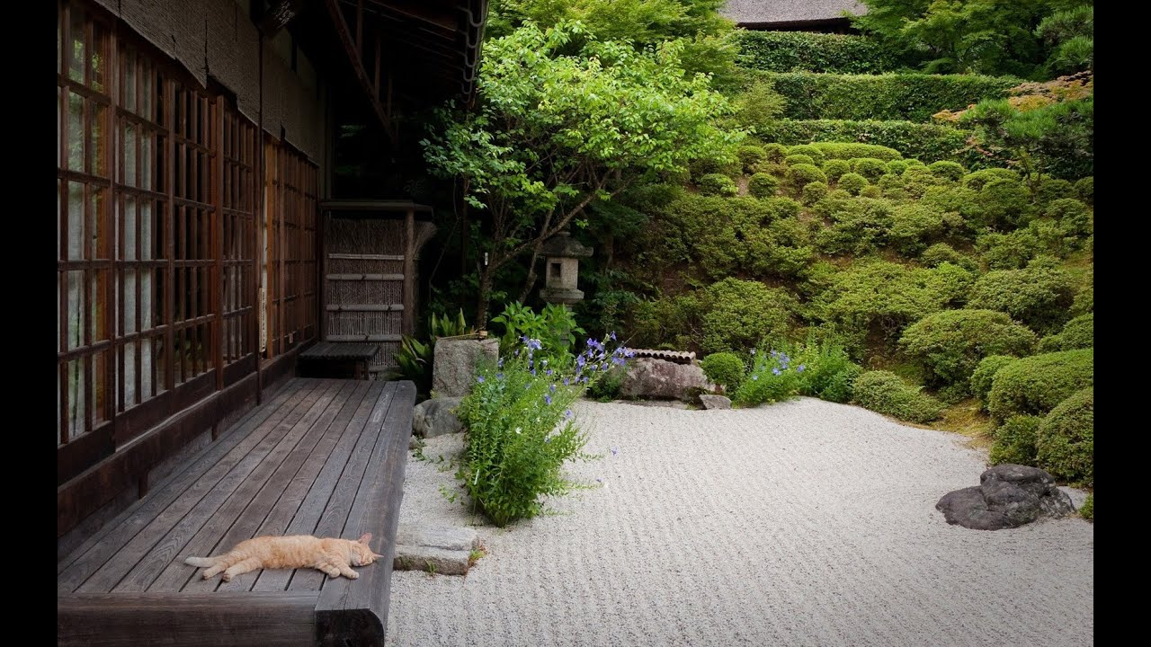 Japanese garden ideas for landscaping youtube for Japanese decking garden