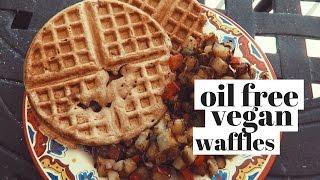 HEALTHY, OIL FREE, VEGAN WAFFLE RECIPE - 3 INGREDIENTS!