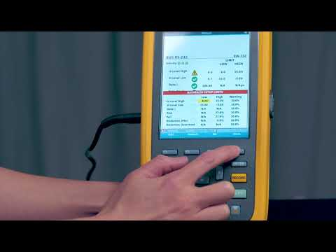 How to use BusHealth Mode on the Fluke ScopeMeter® 120B Series