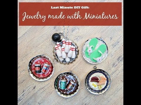 Last Minute Gift Idea:  Jewelry made with Miniatures