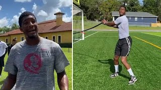 """Jameis Winston Doing Two A Days, EXPLAINS How NFL QBs Train The Body """"We Droppin' Sideways Athletes"""""""
