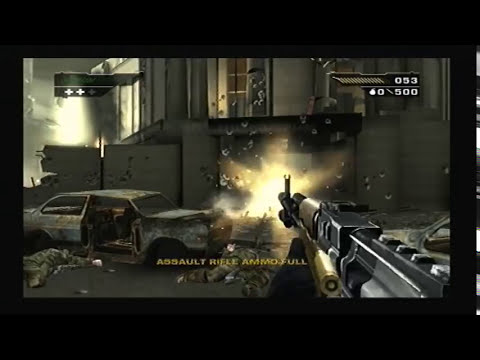BLACK PS2 Game - Intro & Mission 1 gameplay