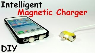How to Make an INTELLIGENT MAGNETIC MOBILE CHARGER | DIY Gadget