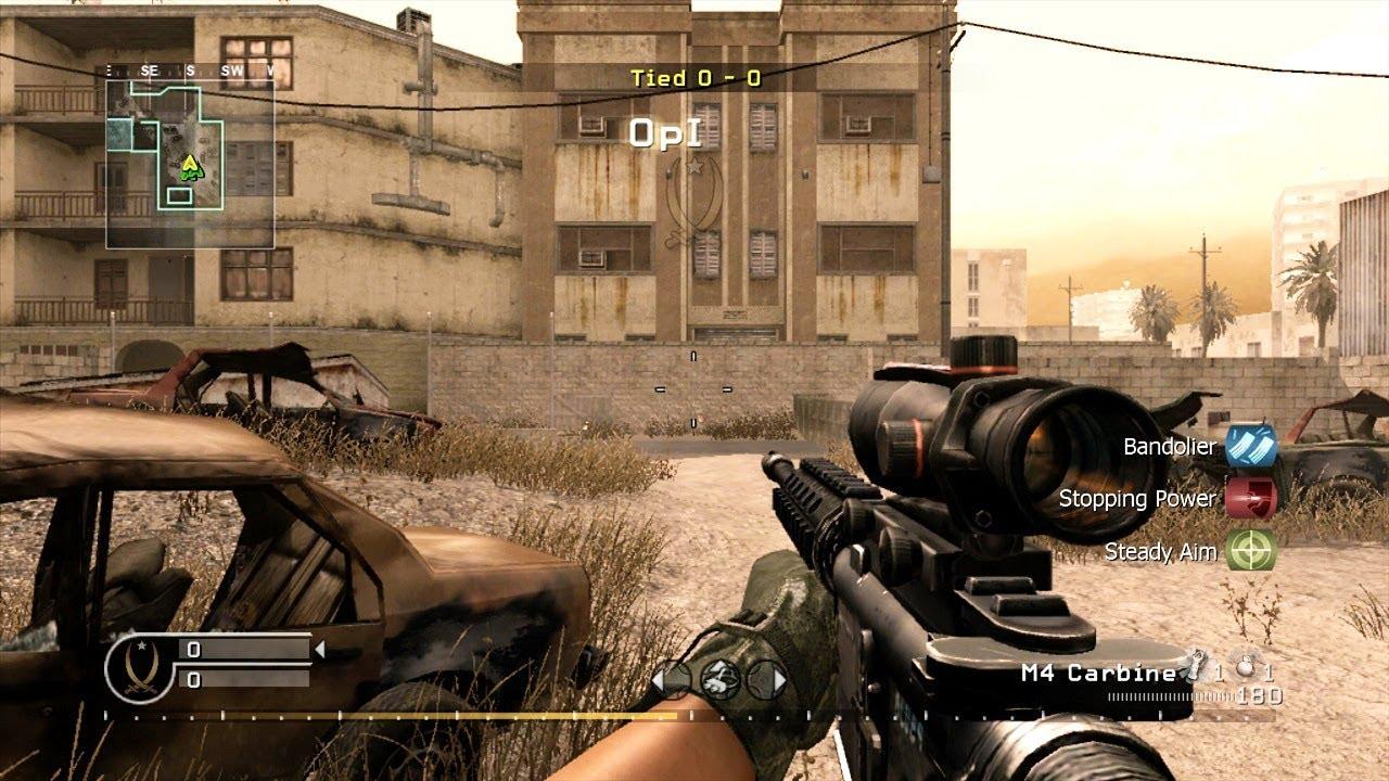 M4 Acog Call Of Duty 4 Modern Warfare Youtube