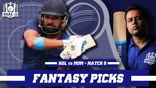 Expecting a Ro-SUPERHIT show vs KOLKATA | Real11 Fantasy Picks | KOL vs MUM - IND T20 League - M5