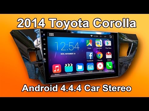"2014 Toyota Corolla Android car stereo review (10"" Screen)"