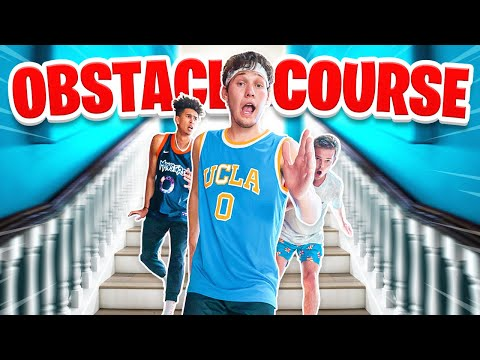Insane Obstacle Course Through Mansion! - Skills Challenge