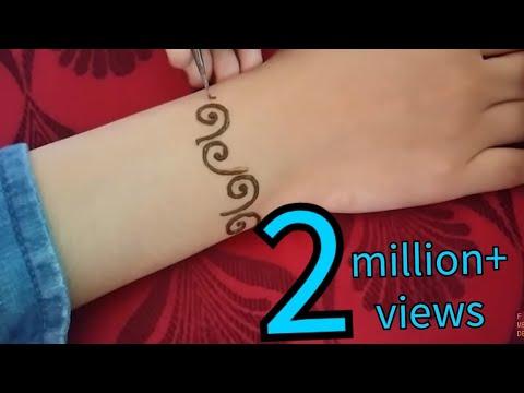Unique henna mehndi designs for back hands