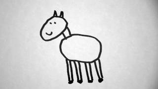 ♘ How To Draw A Horse - In 5 easy steps!!! [LGS]