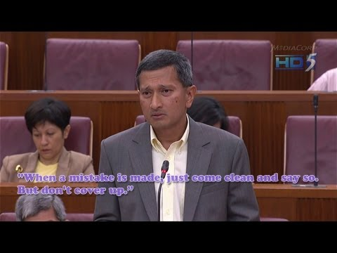 """Vivian Balakrishnan to Workers' Party: """"Don't cover up"""" - 09Jul2013"""