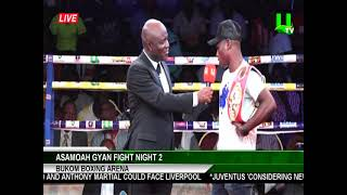 Asamoah Gyan Fight Night 2: Arrival of Emmanuel Tagoe and Vyacheslav Gusev