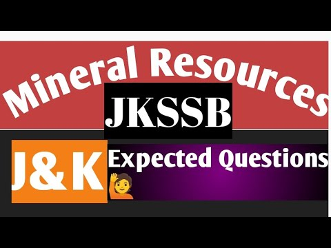 Mineral Resources of J&K