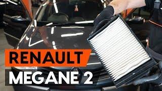 Kaip pakeisti Variklio oro filtras RENAULT MEGANE II Saloon (LM0/1_) - vaizdo vadovas
