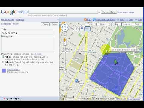 google maps service area