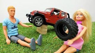Жизнь #Барби: Барби и Кен едут на пикник. АВАРИЯ на дороге! Кто виноват? Видео для девочек