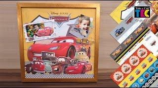 Kit Folhas para Scrap Dupla Face Disney - Coleção Carros - Toke e Crie - Compartilhe!!!