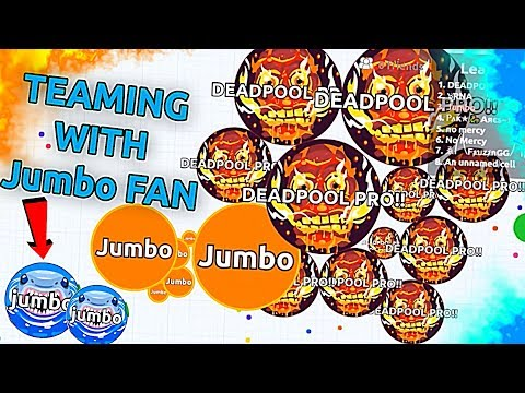 Revenge in Agar.io Jumbo vs Teams !! ( SOLO Destroying Teams )