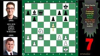 Carlsen vs Caruana World Chess Championship R7. A Classic Case of Bishop vs Knight. 18Nov 2018