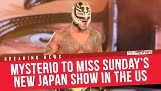 BREAKING NEWS: Rey Mysterio To Miss Sunday's New Japan Show In The US