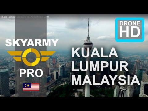 Kuala Lumpur, Malaysia. HD Aerial Drone video.