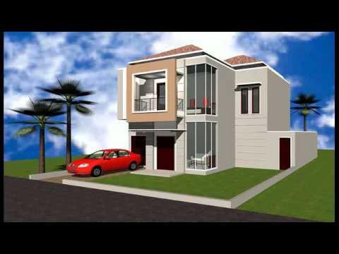 Desain rumah minimalis type 60 2 lantai - YouTube