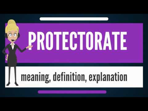 What is PROTECTORATE? What does PROTECTORATE mean? PROTECTORATE meaning, definition & explanation