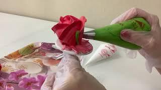 Торт на ЮБИЛЕЙ Розы из БЕЛКОВОГО Крема Розы из БЗК Красивый торт
