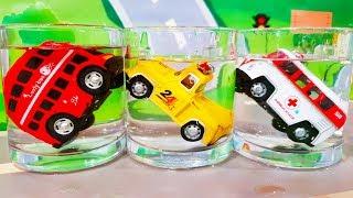 Мультики про машинки.Цветные шарики - Автобус Скорая помощь и грузовик. Учим цвета - Видео для детей