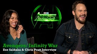 Infinity War: Chris Pratt & Zoe Saldana Reveal Their Love/Hate Relationship