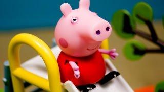 Свинка Пеппа и Джорджа на детской площадке. Мультики новые серии