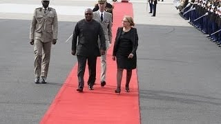 President Mahama and First Lady Lordina welcomed to France