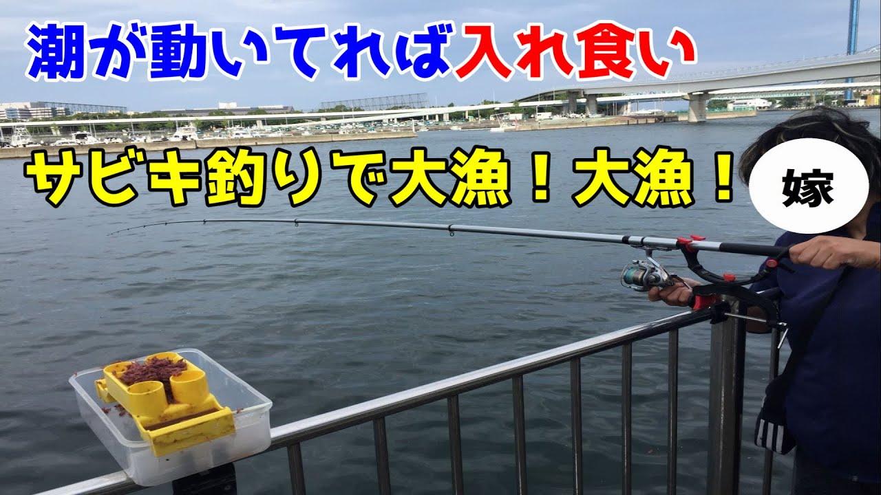 潮が動いてれば入れ食い サビキ釣りで大漁!大漁!