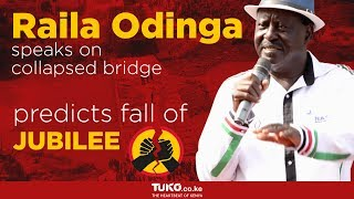 Raila Odinga reveals unknown history of collapsed Sigiri bridge, Uhuru Kenyatta is involved
