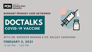 DOCTALKS- COVID 19 Vaccine with Dr. Birinder Narang & Dr. Baldev Sanghera