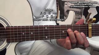 How To Play HAPPIER Marshmello ft Bastille Guitar Chords EricBlackmonGuitar 🎸