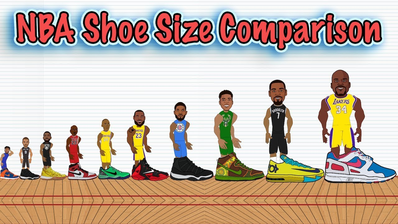 The Best NBA Player at Every Shoe Size