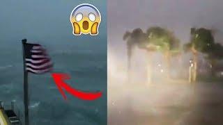 Los Fuertes vientos del huracán Florence En Carolina Del Norte EE.UU