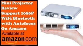 PIQS TT Virtual Touch Portable Projector Mini Projector Review Support WiFi Bluetooth with Autofocus